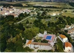 Mortagne Sur Gironde Vue Aérienne L'ancien Chateau Colonie De Clermont Ferrant - France