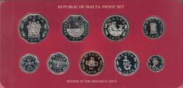 MALTA PROOFSET 1976  IN ORIGINAL BOX WITH CERTIFICATE - Malte