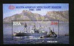 SOUTH AFRICA, 1996, Mint Never Hinged Block, Nr. 45, Merchant Marine, F3830 - Blokken & Velletjes