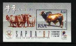 SOUTH AFRICA, 1997, Mint Never Hinged Block, Nr. 54, Sapda Year Of The Ox, F3827 - Blocks & Sheetlets