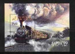 SOUTH AFRICA, 1999, Mint Never Hinged Block, Nr. 76, Sapda Locomotives, F3822 - Blocks & Sheetlets