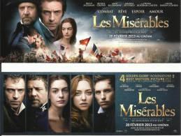 Marque-pages  -  Cinéma  -  LES MISERABLES - Bookmarks