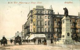 Royaume-Uni - Angleterre - Sussex - Brighton - S. A. War - Memorial & Kings Road - Attelage De Chevaux - état - Brighton