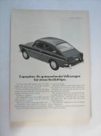 Zeitungsseite  Reklame Volkswagen VW - Ansichtskarten