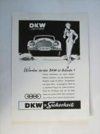 Zeitungsseite  Reklame  DKW - Ansichtskarten
