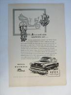 Zeitungsseite  Reklame  Opel - Ansichtskarten