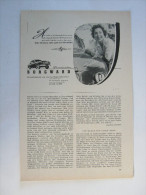 Zeitungsseite  Reklame  BORGWARD - Ansichtskarten