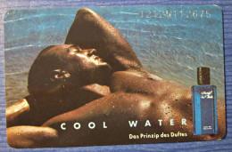 Telefonkarte Deutschland Werbung Parfum Davidoff Cool Water - Parfum
