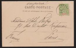 LAOS  CACHET KHONG 1903  SUR CPA  POUR LA FRANCE   Réf  7117 - Laos