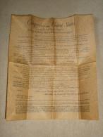 AMENDEMENTS DE LA CONSTITUTION DES ETATS UNIS D' AMERIQUE 1789/91. (4C31) - Décrets & Lois