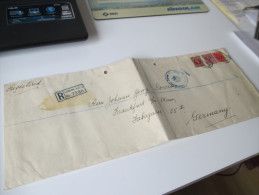 Registered Letter 1955 Großes Format 4 Fach Gesiegelt. Sealed. Zollfrei. Interesting Letter - 1952-.... (Elizabeth II)