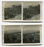 Lot De 4 Photographies Stéréoscopiques TAORMINA - Photos Stéréoscopiques