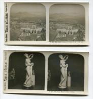 Deux Photographies Stéréoscopiques Naples Napoli - Stereoscopic