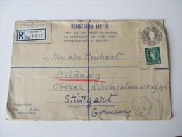 Registered Letter 1955 Ganzsachenumschlag. R Workshop C No 1431 Mit 5 Stempeln - 1952-.... (Elizabeth II)