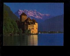 MONTREUX Vaud : Le Château De Chillon Au Coucher Du Soleil + Prison De Bonivard - VD Vaud