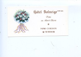 Cordon : Hotel Solneige Face Au Mont Blanc - France