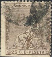 Espagne 1873. ~ YT 134 (Second Choix) - 25 C. Allégorie - 1872-73 Royaume: Amédée I