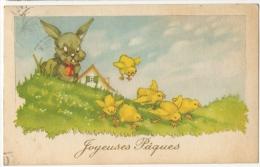 Illustrateur. Lapin & Poussins. Joyeuses Pâques. - Easter
