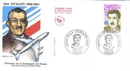 France  -   Max Hymans  -   FDC   -   Premier Jour D´Emission - Aerei