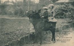 CELEBRITES - Le Nain ADRIEN Et Sa Soeur MARGUERITE En Promenade Dans Leur Parc ( Sur Un âne ) - Altre Celebrità