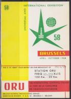 5027. Belgium, 1959, Radio ORU, Postcard - Belgique