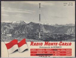 5029. Monaco, 1959, Radio Monte Carlo, Postcard - Monte-Carlo