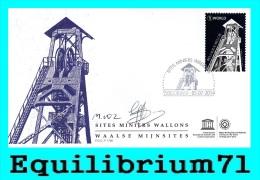 FDC (4429) - Signé /getekend - Les Sites Miniers Wallons De L´Unesco - BELGIQUE - 2011-...