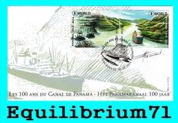 FDC (4425/4426) - Signé /getekend - Les 100 Ans Du Canal De Panama - BELGIQUE - 2011-...