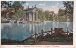 PC Roma - Laghetto Di Villa Umberto I E Tempio D'Esculapio - 1929 (6383) - Roma