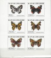 KAZAKHSTAN KAZAKISTAN PAPILLONS SCHMETTERLINGE BUTTERFLIES FARFALLE MARIPOSAS MNH ** NEUFS GOMMA INTEGRA - Schmetterlinge