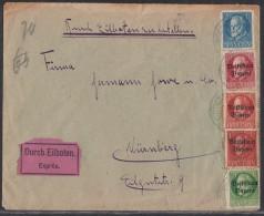 Bayern Brief Eilbote Mif Minr.97,117,3x 119 - Bayern
