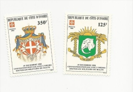 Ivory Coast 1985 Sg 851 -2  Postal Convention Set MNH - Ivory Coast (1960-...)