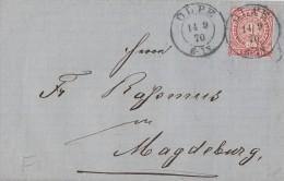 NDP Brief EF Minr.16 Olpe 14.9.70 Gel. Nach Magdeburg - Norddeutscher Postbezirk