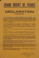 """Affiche """"GRAND ORIENT DE FRANCE"""" 1968. - Affiches"""