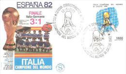 75622) F.D.C.ITALIA CAMPIONE DEL MONDO 1982 FINALE ITALIA GERMANIA - FDC