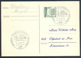 Germany Deutschland Horses 1968 Card: Cavallo, Horse, Pferd; Trabrennbahn; Trotting Race Stadium Cancellation - Horses