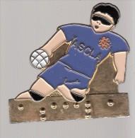 Pin´s Hand Ball Du Club ASCLA (Association Sport Culture Loisirs Des Aveugles) - Balonmano