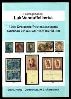 Postzegelhandel Luk VANDUFFEL BVBA - 10 De Openbare Postzegelveiling - Januari 1996. - Catalogues De Maisons De Vente