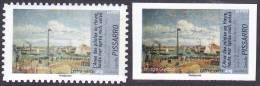 France Variété Autoadhésif N°  828 A Et 828 Ax ** Non Dentelé Sans Phosphore - Peinture De Pissarro (verso Fond Blanc) - Varieties: 2010-.. Mint/hinged