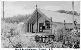 ROTURUA (New Zeeland) - Maori Meetinghouse, Orig.Fotokarte Gel.1965, Kleinformat 14 X 8,7 Cm - Neuseeland