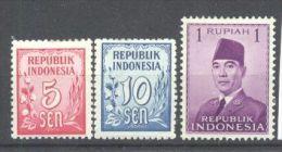 Indonesia 1951 Usuals, MH AF.024 - Indonesië
