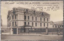 76--FECAMP-HOTEL DE LA POSTE-Avenue Gambetta--Restaurant Bar-tout Confortsalle De Fêtes-garage - Fécamp