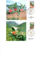 Nouvelle-Calédonie, Cartes 1er Jours, Fleurs Rubiaceae Et Myrtaceae 1964 - Pflanzen Und Botanik