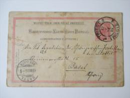 Österreich 1904 Auslandsganzsache / Weltpost - Verein Triest - Basel - Entiers Postaux