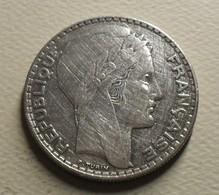 1933 - France - 20 FRANCS, Turin, Rameaux Courts, Argent, Silver, KM 879, Gad 852 - Francia