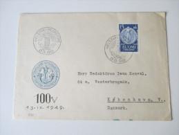 Finnland Nr. 375 FDC 1949 Echt Gelaufen?! - Cartas