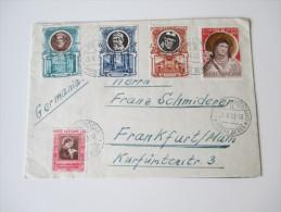 Vatikanstaat 1953 Luftpostbrief Mit Schöner Frankatur! Posta Aerea. Bedarf - Vatican