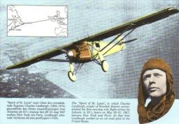 Charles Lindbergh  -  'Spirit Of St Louis'  -  Carte Postale - Aviadores