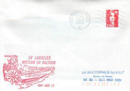 LETTRE  BATEAU AVISO LV  LAVALLEE MISSION EN BALTIQUE 93 PARIS  NAVAL 25/5/93 - Marcophilie (Lettres)