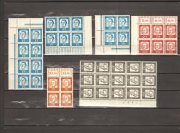 BRD 1961 Bedeutende Deutsche Lot Bogenteile Aus Mi.Nr.351-355 ** MNH M.Randbesonderheit Bogenzählnummer 2 Bilder - BRD